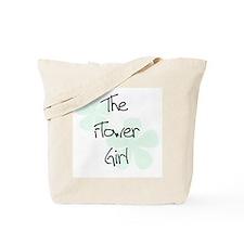 Flower Girl Green Flowers Tote Bag