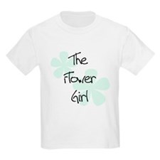 Flower Girl Green Flowers Kids T-Shirt