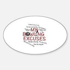 MY BOWLING EXCUSES Decal