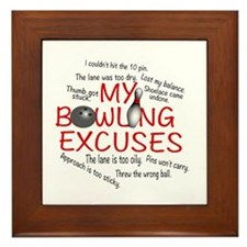 MY BOWLING EXCUSES Framed Tile