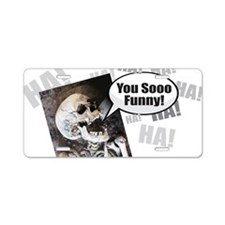 Cute Mens zombie Aluminum License Plate