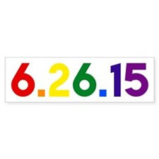 6.26.15 The Day Gay Marriage Was Bumper Bumper Stickers