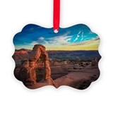 Arches national park Picture Frame Ornaments