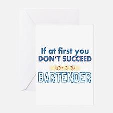 Bartender Greeting Cards