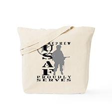 Nephew Proudly Serves - USAF Tote Bag