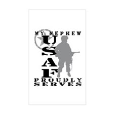 Nephew Proudly Serves - USAF Rectangle Decal