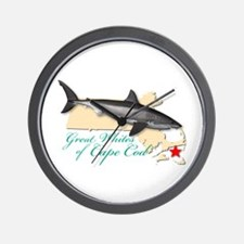 Great Whites of Cape Cod Wall Clock