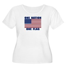 ONE NATION ONE FLAG Plus Size T-Shirt