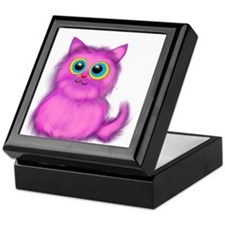 pink Kitten Keepsake Box