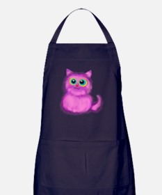 pink Kitten Apron (dark)