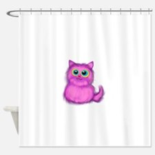 pink Kitten Shower Curtain