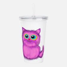 pink Kitten Acrylic Double-wall Tumbler