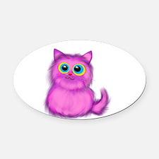 pink Kitten Oval Car Magnet