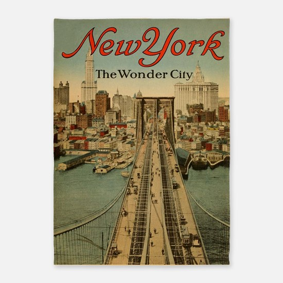 New York City; The Wonder Vintage 5'x7'are