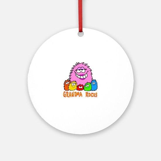 Grandma Rocks! Ornament (Round)