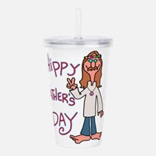 Hippy Father's Day Acrylic Double-wall Tumbler