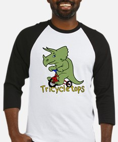 Triceratops Bicycle Baseball Jersey