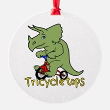 Triceratops Bicycle Ornament