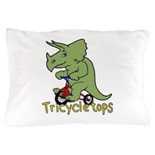 Triceratops Bicycle Pillow Case