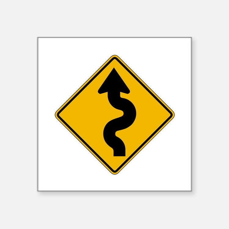 "Cute Arrow sign Square Sticker 3"" x 3"""