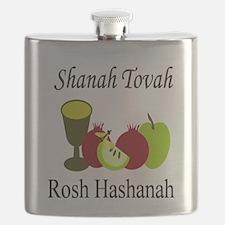 Happy Rosh Hashanah Flask