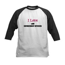 I Love LAW ENFORCEMENT OFFICERS Tee