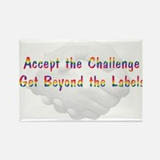 Accept The Challenge Magnets