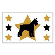 Gold Star Schnauzer Rectangle Decal