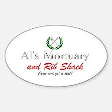 AL'S MORTUARY Decal