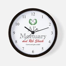 AL'S MORTUARY Wall Clock