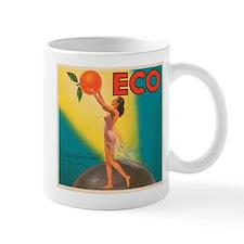 ECO Orange Vintage Crate Labe Mug