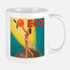 ECO Orange Vintage Crate Labe Small Small Mug