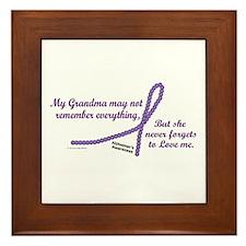 Never Forgets To Love (Grandma) Framed Tile