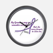 Never Forgets To Love (Grandma) Wall Clock