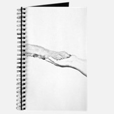 dog paw and human hand Journal