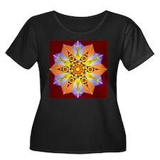 Flower Mandal Plus Size T-Shirt