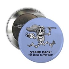 "Stand Back! 2.25"" Button"