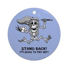 Stand Back! Ornament (Round)