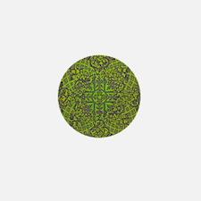 Bronzed golden egg over green Mini Button