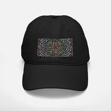 ABSTRACT ELEGANT RED EGG CROSS Baseball Hat