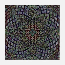 ABSTRACT ELEGANT RED EGG CROSS Tile Coaster