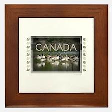 Cute Ducks unlimited Framed Tile