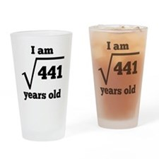 21st Birthday Square Root Drinking Glass