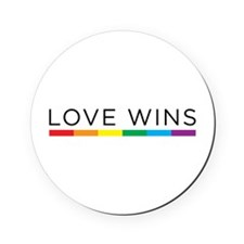 Love Wins Cork Coaster