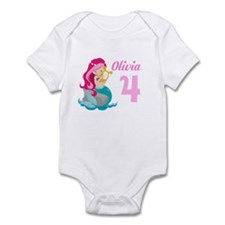 Pink Mermaid Infant Bodysuit