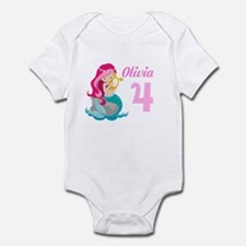 Pink Mermaid Infant Bodysuit
