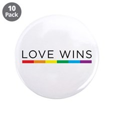 """Love Wins 3.5"""" Button (10 pack)"""