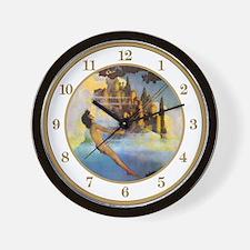 Dinky Bird by Maxfield Parrish Wall Clock
