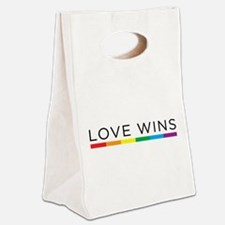 Love Wins Canvas Lunch Tote