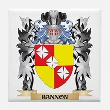 Hannon Coat of Arms - Family Crest Tile Coaster